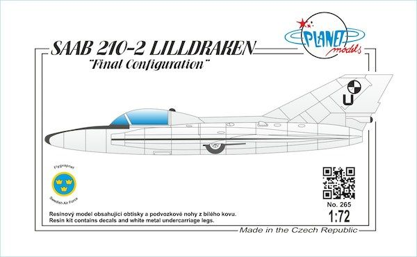 "Planet 1/72 SAAB 210-2 LILLDRAKEN ""Final Configuration"" # 265"