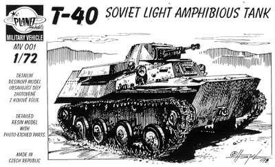 Planet 1/72 T-40 Soviet Light Amphibious Tank # MV001