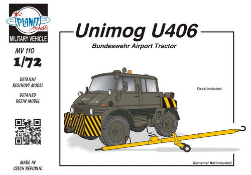 Planet 1/72 Unimog U406 DoKa Military Airport Tug # MV110