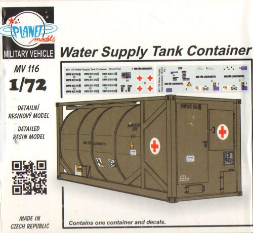 Planet 1/72 Water Supply Tank Container # MV116