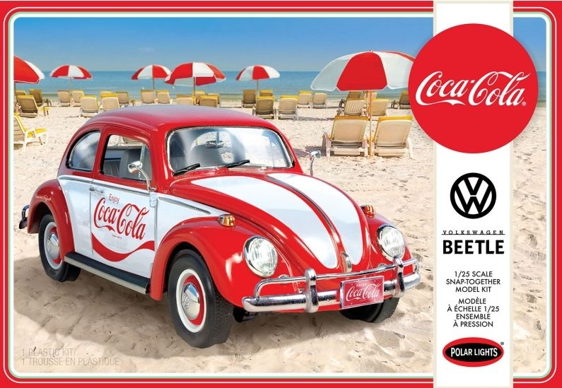 Polar Lights 1/25 Coca Cola Volkswagen Beetle (Snap Together) # 960