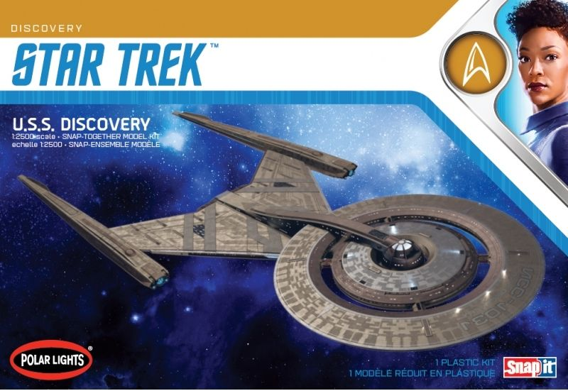 Polar Lights 1/2500 Star Trek U.S.S. Discovery Snap Together # 961