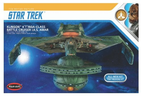 Polar Lights 1/350 Star Trek Klingon K't'inga-Class Battle Cruiser I.K.S. AMAR # 950