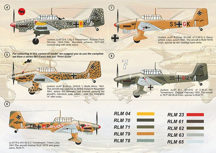 Print Scale Decals 1/32 Junkers Ju-87 'Stuka' Part 2 # 32020