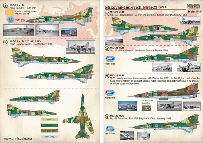 Print Scale Decals 1/48 Mikoyan MiG-23 # 48161
