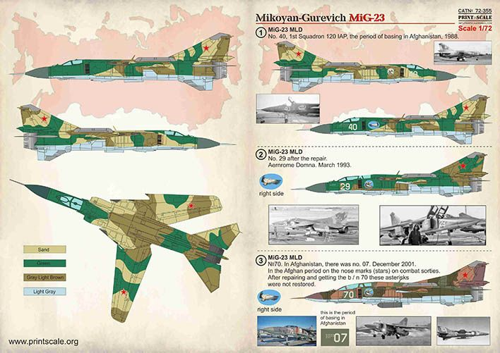 Print Scale Decals 1/72 Mikoyan-Gurevich MiG-23 # 72355