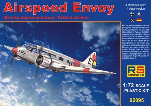 RS Models 1/72 Airspeed Envoy with Cheetah Engine # 92095