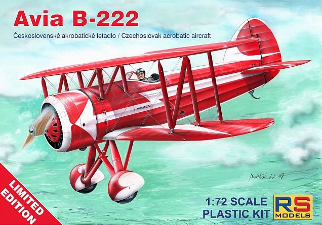 RS Models 1/72 Avia B-222 Czechoslovak Acrobatic Aircraft Limited Edition # 94001