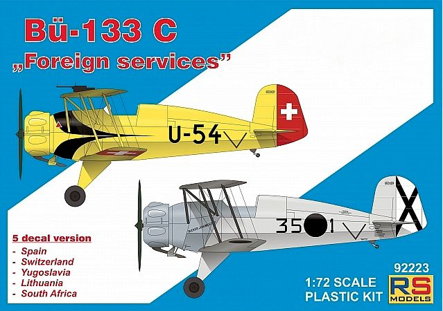 "RS Models 1/72 Bucker Bu-133C ""Foreign Services"" # 92223"