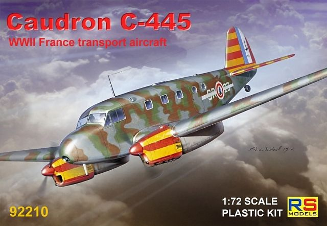 RS Models 1/72 Caudron C-445 WWII French Transport Aircraft # 92210