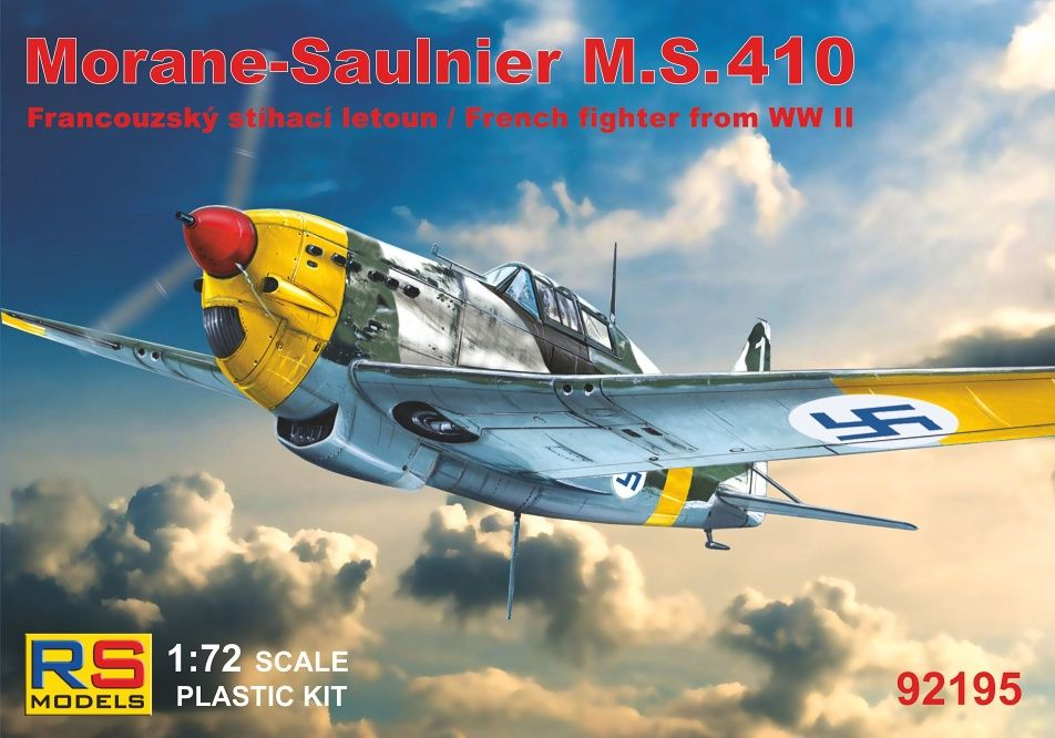 RS Models 1/72 Morane-Saulnier M.S. 410 French Fighter from WWII # 92195
