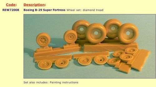 Radial Engines and Wheels 1/72 B-29 Superfortress Wheels Diamond