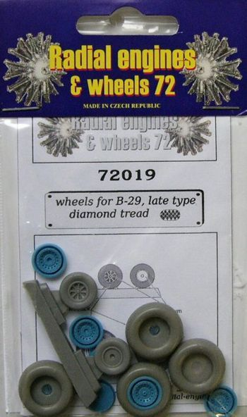 Radial Engines and Wheels 1/72 B-29 Superfortress Wheels Late Ty