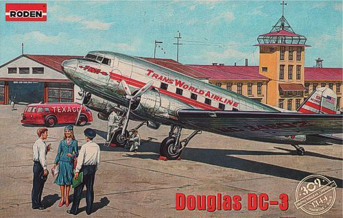 Roden 1/144 Douglas DC-3 Trans World Airlines Late 1930's # 309