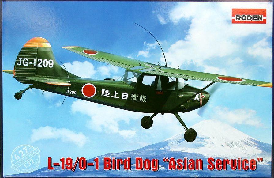 "Roden 1/32 Cessna L-19/O-1 Bird Dog ""Asian Service"" # 627"