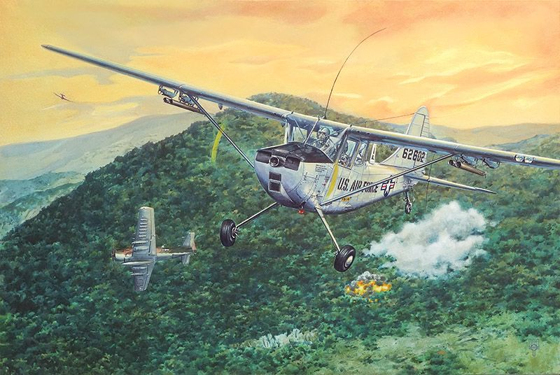 Roden 1/32 Cessna L.19/O-1 Bird Dog # 619