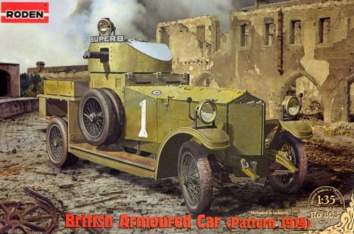 Roden 1/35 British Armoured Car (Pattern 1914) # 803