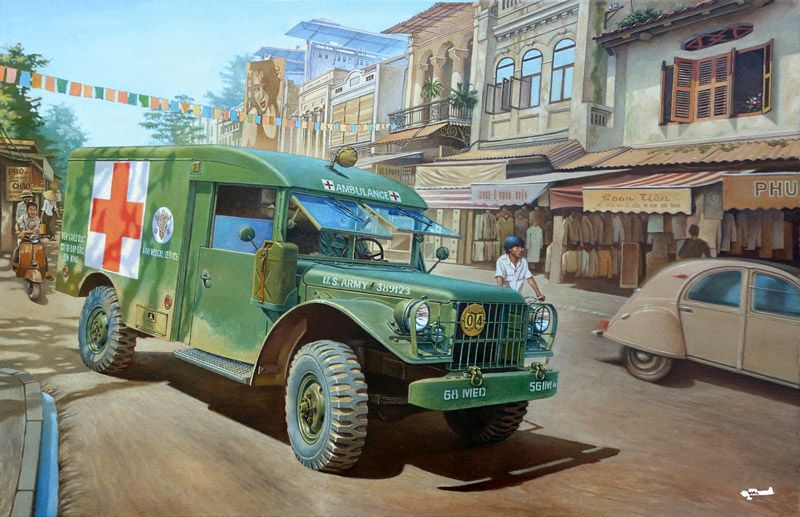 Roden 1/35 Dodge M43 3/4 ton 4x4 Ambulance # 811