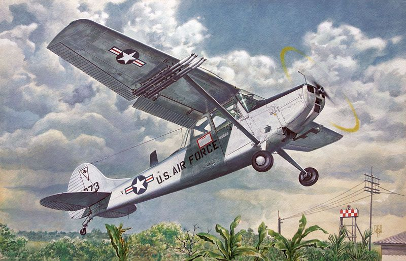 Roden 1/48 Cessna L-19/O-1 Bird Dog # 409