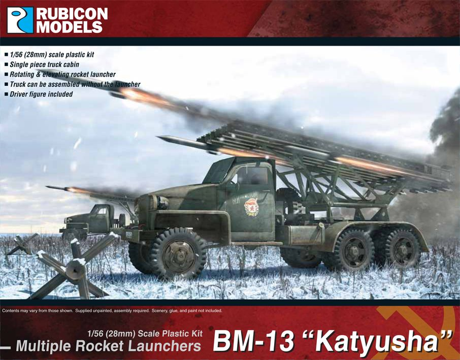 Rubicon Models 28mm BM-13 Katyusha Multiple Rocket Launcher # 280036