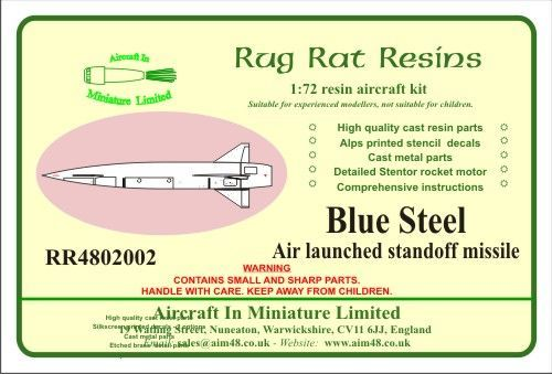 Rug Rat Resins 1/48 Blue Steel Missile # RR4802002