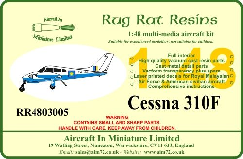 Rug Rat Resins 1/48 Cessna 310F # RR4803005