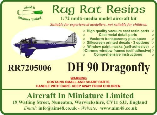 Rug Rat Resins 1/72 De Havilland DH-90 Dragonfly # RR7205006