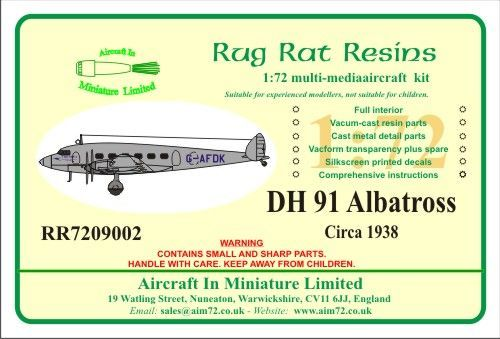 Rug Rat Resins 1/72 De Havilland DH.91 Albatross # RR7209002