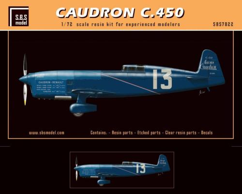 SBS Model 1/72 Caudron C.450 1934 # K7022