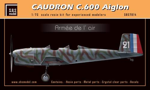 SBS Model 1/72 Caudron C.600 Aiglon 'Armée de l'Air # K7014
