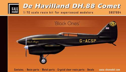 SBS Model 1/72 De Havilland DH.88 Comet Racer 'Black' # K7004
