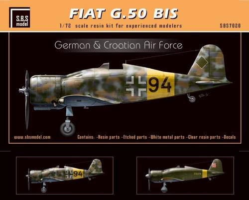 SBS Model 1/72 Fiat G.50 BIS 'German & Croatian Air Force' # K7020
