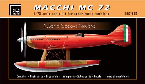 SBS Model 1/72 Macchi MC.72 'World Speed Record' # K7015