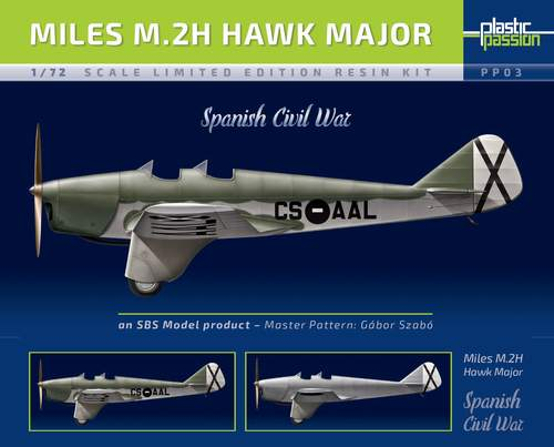 SBS Model 1/72 Miles M.2H Hawk Major 'Spanish Civil War' # PP03