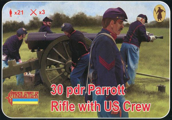 Strelets 1/72 30pdr Parrott Rifle with US Crew # 182