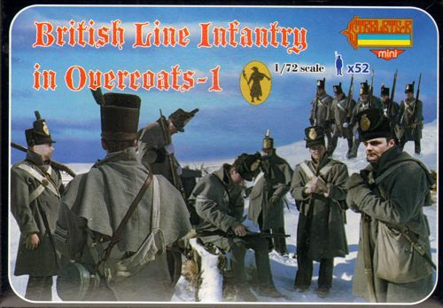 Strelets 1/72 Napoleonic British Line Infantry in Overcoats-1 # M094