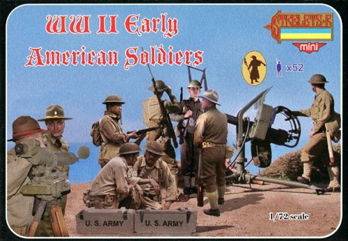 Strelets 1/72 WWII Early American Infantry # M105