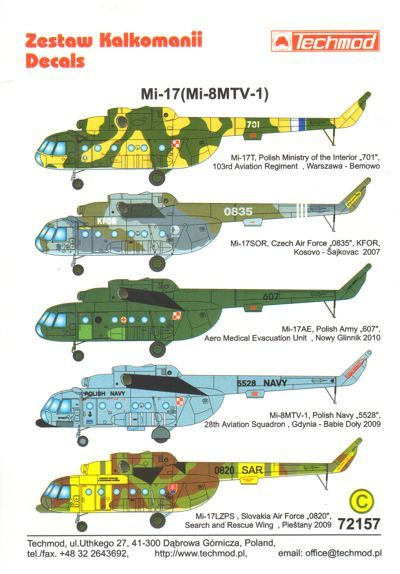 Techmod 1/72 Mil Mi-8MT/Mi-17 Hip-H Helicopter # 72157