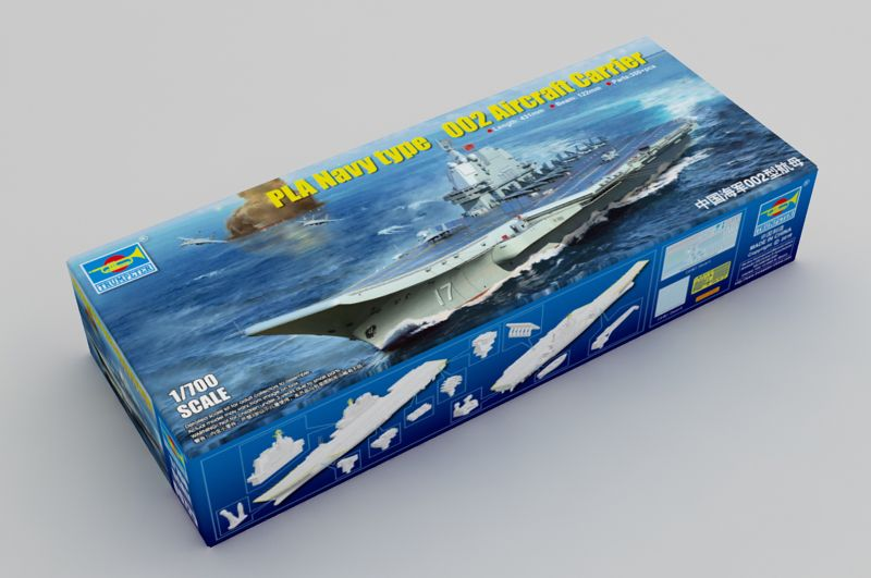 Trumpeter 1/700 PLA Navy type 002 Aircraft Carrier # 06725