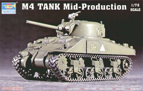 Trumpeter 1/72 M4 Mid Production Sherman # 07223