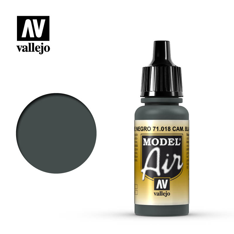 Vallejo 17ml Model Air - Camouflage Black Green acrylic paint #