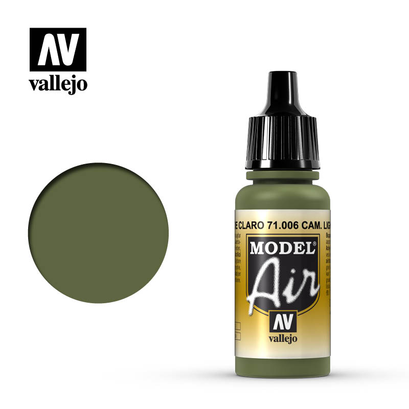 Vallejo 17ml Model Air - Camouflage Light Green acrylic paint #