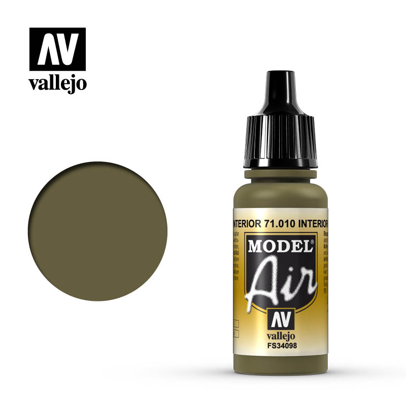 Vallejo 17ml Model Air - Interior Green acrylic paint # 010