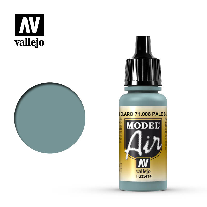 Vallejo 17ml Model Air - Pale Blue acrylic paint # 008