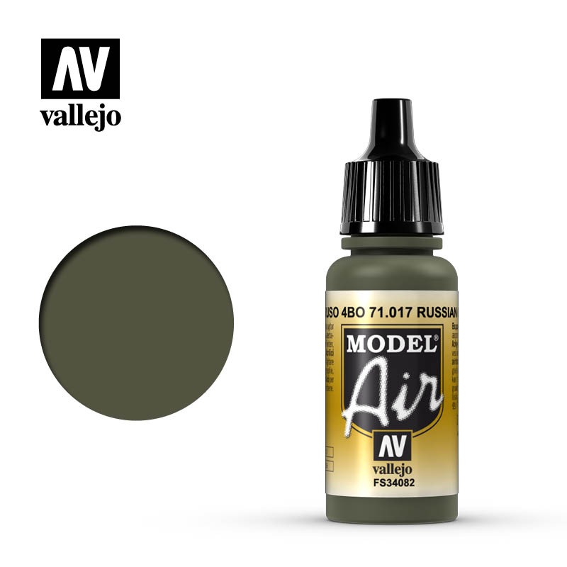 Vallejo 17ml Model Air - Russian Green acrylic paint # 017