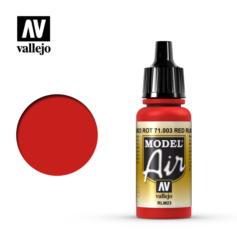 Vallejo 17ml Model Air - Scarlet Red acrylic paint # 003