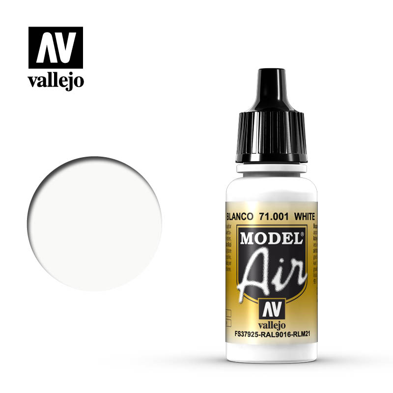 Vallejo 17ml Model Air - White acrylic paint # 001
