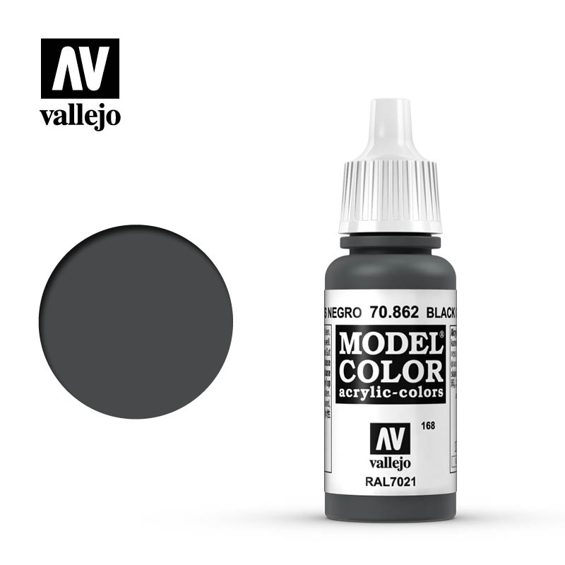 Vallejo 17ml Model Color - Black Grey acrylic paint # 862