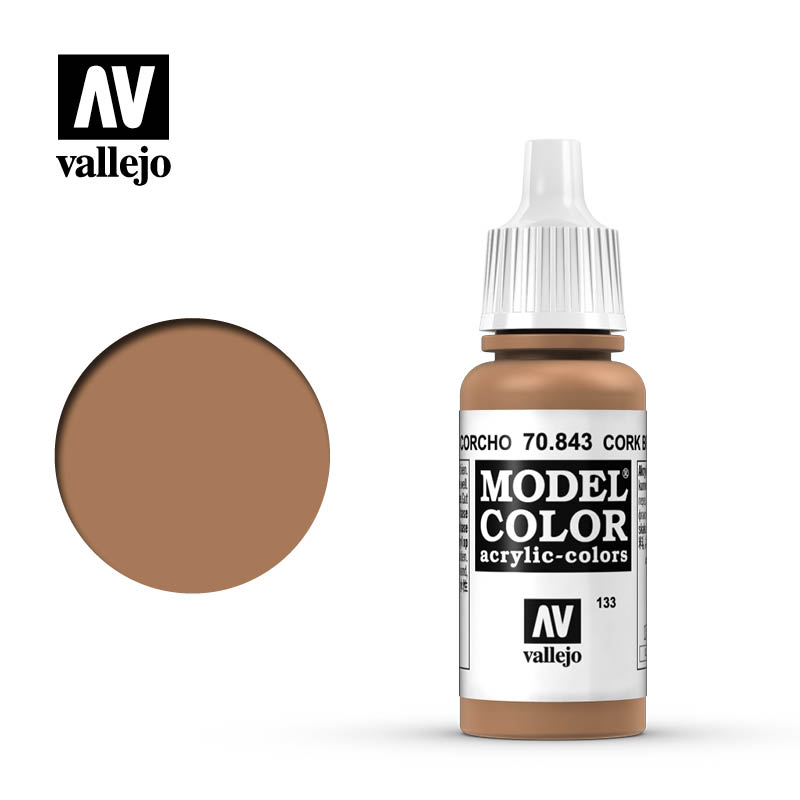 Vallejo 17ml Model Color - Cork Brown acrylic paint # 843