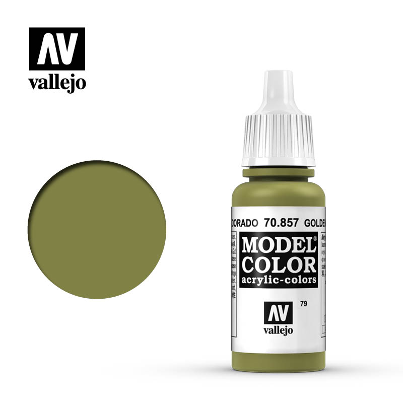 Vallejo 17ml Model Color - Golden Olive acrylic paint # 857